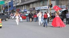 Gay Pride Parade Bogota Colombia Stock Footage