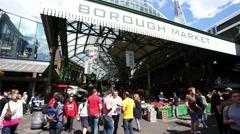 London Borough Market - stock footage