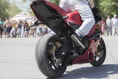 Stuntriding  Freestyle motocross - stock photo