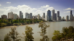 Brisbane river time lapse Stock Footage