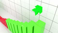 Growth graph with arrow - stock footage