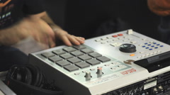 Dj party drum machine hip hop Stock Footage