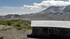 Memorial To Mt St Helens Victims Stock Footage