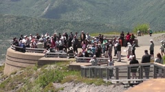 People Gathering At Mt St Helens Viewpoint Stock Footage