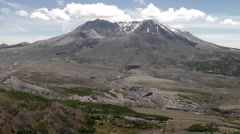 Tilt Downward From Mt St Helens Stock Footage