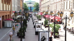 Malaya Sadovaya Street in the summer afternoon. St. Petersburg. Russia. 2015 Stock Footage