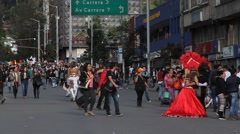 Gay Pride Parade Bogota Colombia Stock Footage