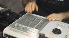 Dj party drum machine beat making Stock Footage