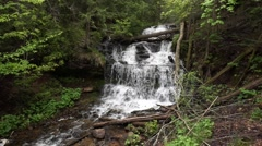 Wagner Falls, Munising, Michigan Stock Footage