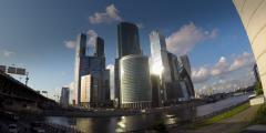 Moscow city filmed in time lapse Stock Footage