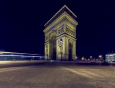 The 'Arc de Triomphe', Paris, France Stock Footage