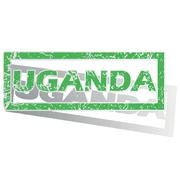 Green outlined Uganda stamp Stock Illustration