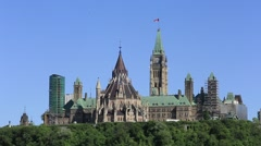 Canada's Parliament buildings Stock Footage