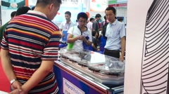 Stock Video Footage of Hold industrial automation exhibition in Shenzhen, China