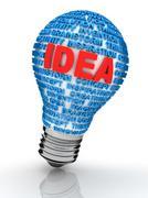 Idea light bulb Stock Illustration