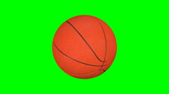 Basketball ball spinning Stock Footage