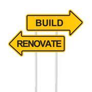 Build or renovate Stock Illustration
