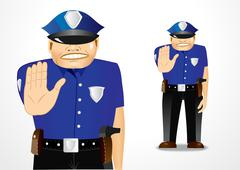 Policeman showing stop gesture Stock Illustration