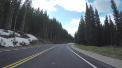 4K Gopro Car Footage Of Mountain Pass In Utah (4K) Stock Footage