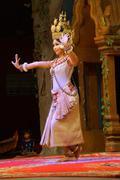 Solo Apsara dancer Stock Photos