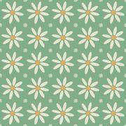 Seamless flower pattern chamomile - stock illustration