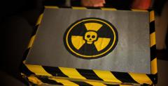 Nuclear Bomb Chemical Briefcase Stock Footage