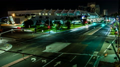 San Diego Convention Center Night Timelapse Stock Footage