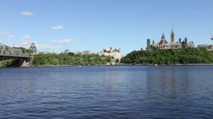 Parliament Hill and the Ottawa River Stock Footage