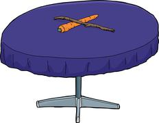 Carrot and Stick on Table Stock Illustration