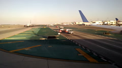 Busy LAX Airport Tarmac Taxiing Gate Airplanes Travel Employees Runway Tower Stock Footage