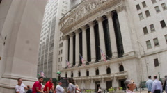 NEW YORK STOCK EXCHANGE Crowded TimeLapse 4K - stock footage