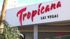 Tropicana Entrance in Las Vegas 4k Stock Footage