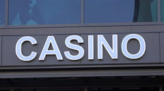 Generic Casino Sign 4k - stock footage
