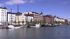 Stock Video Footage of Helsinki North Harbor