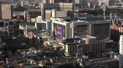 City traffic of Las Vegas seen from above 4k Stock Footage