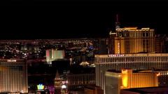 City light at night on Las Vegas Strip 4k Stock Footage
