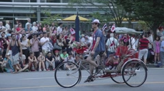 Thailand Pedicab - Canada Day Parade 2015 Stock Footage