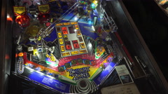 Twilight Zone Pinball game at the Arcade 4k Stock Footage