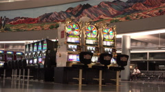 Wheel of Fortune slot machine at Las Vegas Airport 4k - stock footage