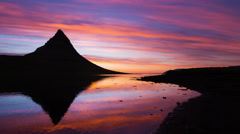 Colorful Sunrise Timelapse. Kirkjufell, Iceland. - stock footage