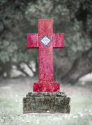 Gravestone in the cemetery - Arkansas - stock photo