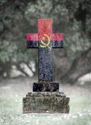 Stock Photo of Gravestone in the cemetery - Angola