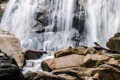 Waterfall with rock Stock Photos
