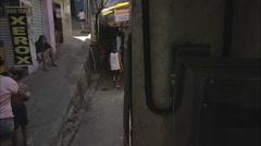 Stock Video Footage of People walking in favela