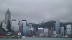 Export cargo ship in Hong Kong 4K - stock footage