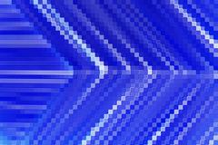 Abstract of line up blue angle shape Stock Illustration
