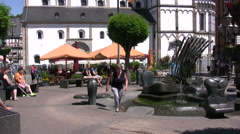 Church of St Severus in Boppard near the Rhine river Stock Footage