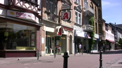 Boppard high street in Germany tilt up Stock Footage