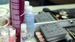 Cosmetics .  Dressing Room - stock footage