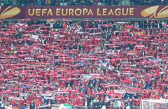 UEFA Europa League Final football game Dnipro vs Sevilla - stock photo